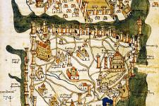 Kart over Konstantinopel (1422) av kartograf Cristoforo Buondelmonte
